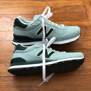 New Balance 515 sz 7.5 - blue teal green / white